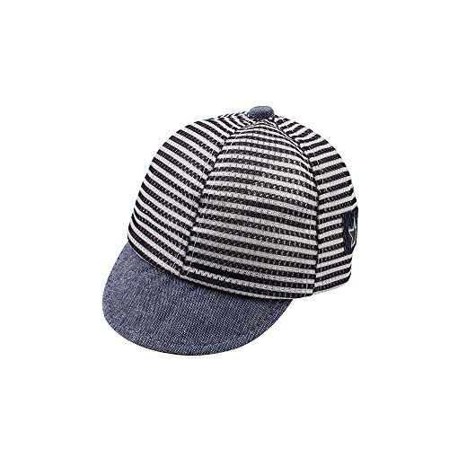 XIAOHAWANG Dot Baby Summer Caps Girl Boys Sun Hat With Ear (Mesh Navy)