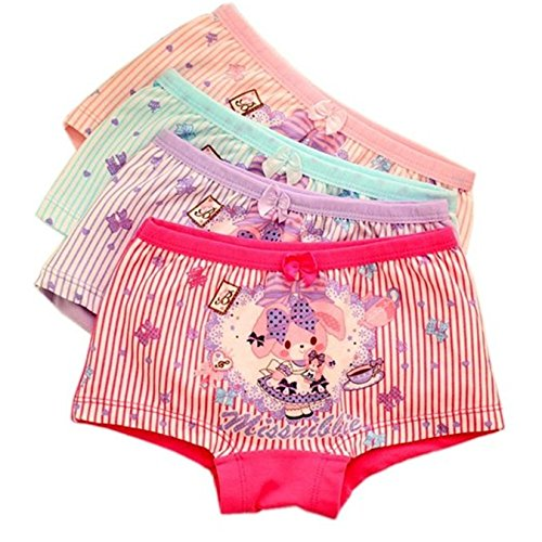 Jeleuon 4 Pcs Little Girls Cotton Striped Underwear Toddler Hipster Briefs,Girl-pant,2-3 - Free With Shipping Stores Overnight