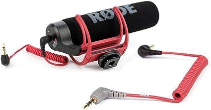 Rode VideoMic GO cámara micrófono paquete w/TRS a TRRS Cable de conexión: Amazon.es: Instrumentos musicales