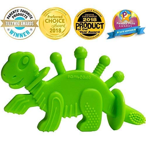 Baby Teether Toy Extraordinaire: Dibly - The Dino-Sore-No-More Baby Teething Toy...