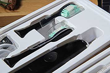 Sproud Cepillo De Dientes Eléctrico De Alto Grado Tres De Carga Usb Color Negro Tipo Botón Impermeable: Amazon.es: Hogar