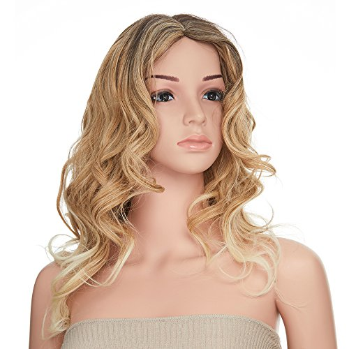 Galleon Onedor 26 Inch Curly Gradient Bleach Blonde Ombre Hair Wig