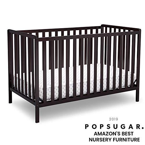 Delta Children Heartland 4-in-1 Convertible Crib, Dark Chocolate