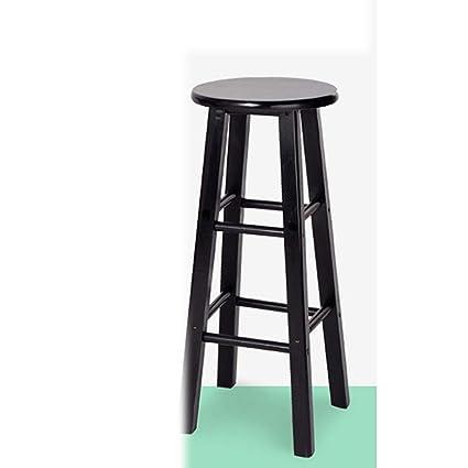 Bar Chairs Solid Wood Bar Stool High Bar Chair High Stool Bar Stool Rubber Wooden Ladder Stool High Bar Chair