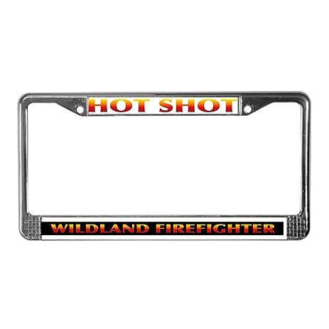 Amazon.com: CafePress - Firefighter License Plate Frame - Chrome ...