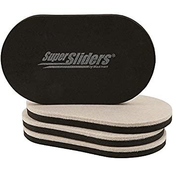 SuperSliders 4705195N Reusable Furniture Movers for Hardwood Floors - Quickly and Easily Move Any Item 3-1/2