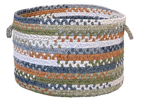 (Colonial Mills Rag-Time Cotton Blend Utility Basket, 14 by 10-Inch, Orange/Multicolor)