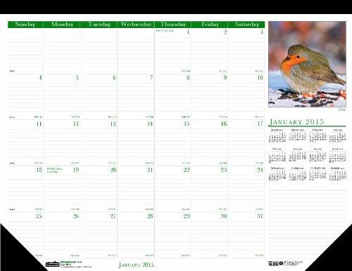 House of Doolittle 192 Wild Birds Photographic Monthly Desk Pad Calendar, 22 x 17, (Photographic Desk Pad Calendar)