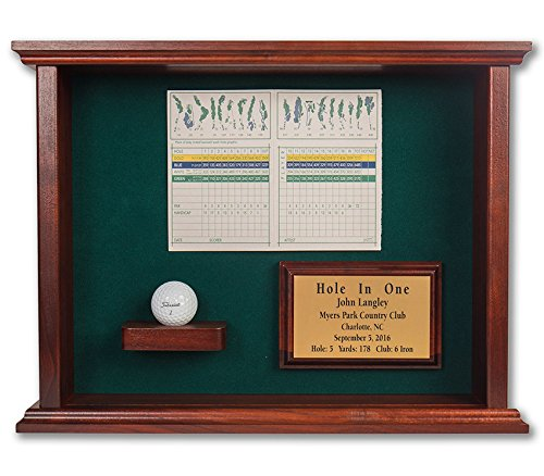 Great Golf Memories Hole in One Ball & Scorecard or Photo Shadowbox-Free Engraved Plate (Great Golf Memories)