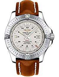 Colt Automatic 44mm Brown Leather Strap Men's Watch