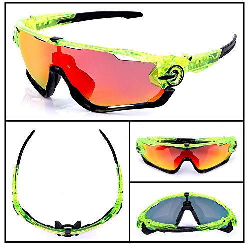 bicicleta Sequins hombre protección de Gafas gafas intercambiables Black de Metal para deporte Green Black Fluo de UV400 2 montaña hombres with Polarizadas ciclismo con nbsp;lentes carretera gafas de nbsp;gafas zw4dTxvvn