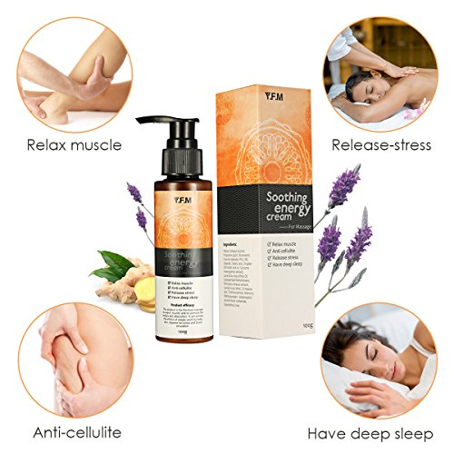 Hot Cream, Anti Cellulite Cream, Slimming Gel, Y.F.M Smoothing Energy Cream, Pain Body Relief Cream for Muscle Relaxation, Massage Gel, Firms Skin, Help Deep Sleep, Release Stress 4.23oz.