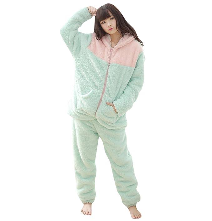 WanYang Mujeres Invierno De Mangas Largas Pijamas De Navidad Moda Casual Pijamas Ropa De Hogar Para