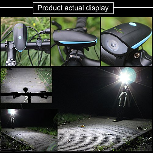 LETOUR Bike Light Loud Bike Horn, Rechargeable Bicycle Light Waterproof Cycling Lights, Bicycle Light Front Loud Sound Siren, 3 Lighting Modes 5 Sounds by LETOUR (Image #6)