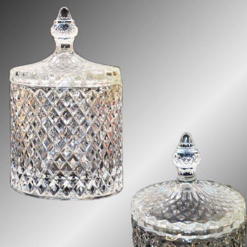 Zuckerdose Glas mit Deckel Dose Bonbondose Glasdose Glasschale von Pasabahce