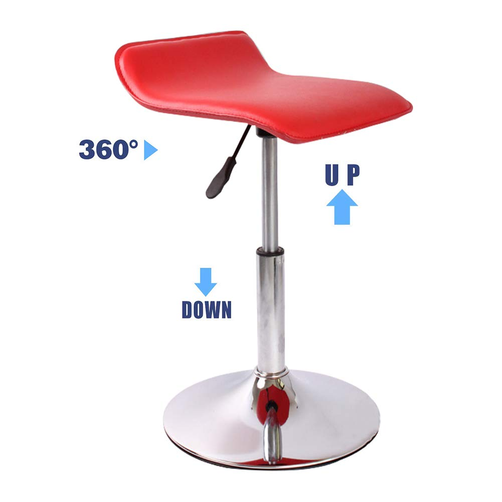 Bar Stools Chair Lift Swiveling Rotate Height Adjustable 360° Swivel Kitchen Stool with Backrest and Footrest, Beauty Salon Hairdressing Manicure Bar Stool Chair-red by YANGYA