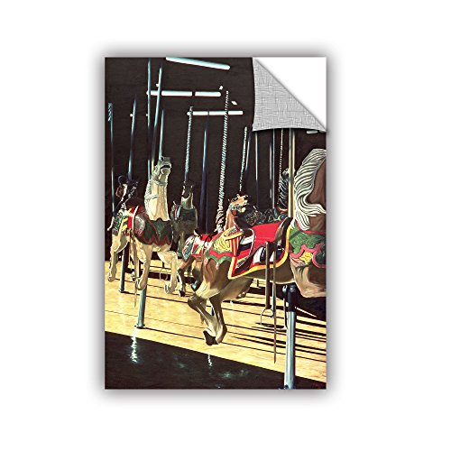 (ArtWall Anthony Butera's Carousel Coney Island Art Appeelz Removable Graphic Wall Art, 24 x 36, Multicolor)