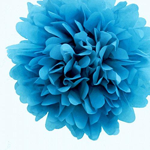 Quasimoon Turquoise Flowers Decorations PaperLanternStore