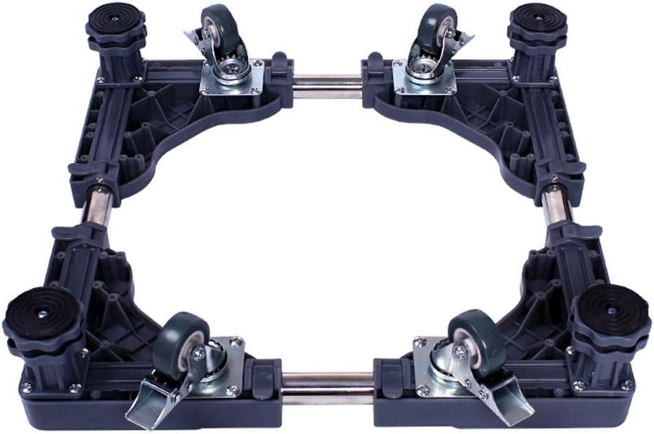 YBJPshop 洗濯機ベース 4フィートと4輪の洗濯機ベースロック可能なモバイルスタンドラック調整フレームパッド足ロール移動フレームブラケット 滑り止めブラケットベースブラケット、滑り止め (Color : Gray)