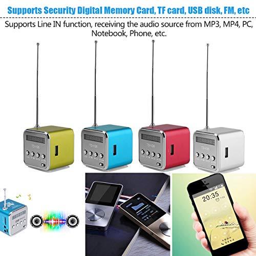 Portable Aluminum Alloy Micro USB Mini Stereo Super Bass Speaker Ubwoofer Musica MP3/4 FM Radio Receiver (Mini Bluetooth Pepper Speaker)