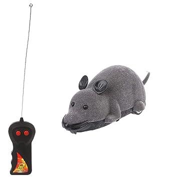 Karazhan - Gatos interactivos Juguetes eléctricos Simulación ratón Control Remoto Broma Truco Regalos, Tela, Gris, Medium: Karazhan: Amazon.es: Hogar