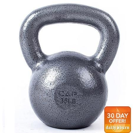 CAP Barbell Cast Iron Kettlebell, Grey 25 Lbs
