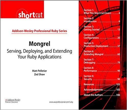 Mongrel (Digital Shortcut): Serving, Deploying, and - Books