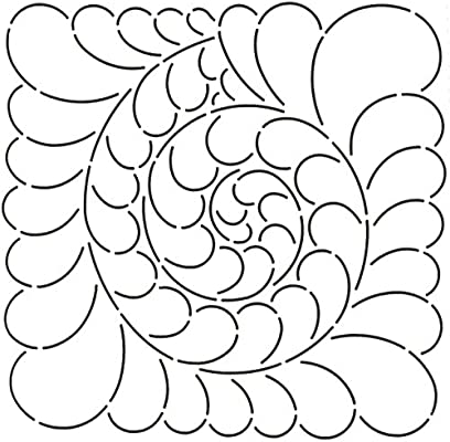 Quilting Creations Feather Swirl Quilt Stencil 11