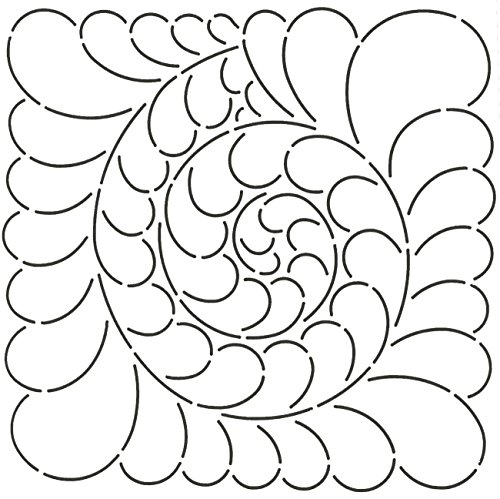 Quilting Creations Feather Swirl Quilt Stencil, 9