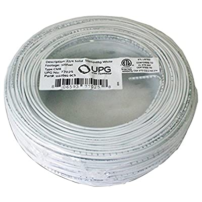 UPG 77025 22-Gauge, 4-Conductor Alarm White Cable, 500' Speedbag