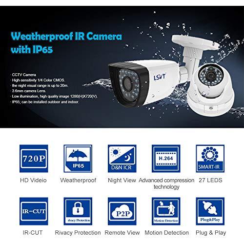 FREECAM 4CH CCTV System 720P HDMI AHD CCTV DVR 4PCS 1.0 MP IR Outdoor Home Security Camera 1200 TVL Camera Surveillance Kit by Freecam (Image #4)