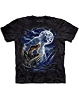The Mountain Mens Wolf Spirit Moon Short Sleeve T-Shirt