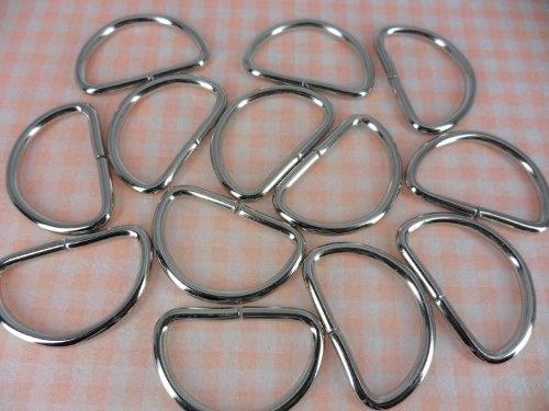 Metal Dee Ring Welded Key Fob Webbing Belt Strap Chain Hardware Collar Supplies 10 Pieces