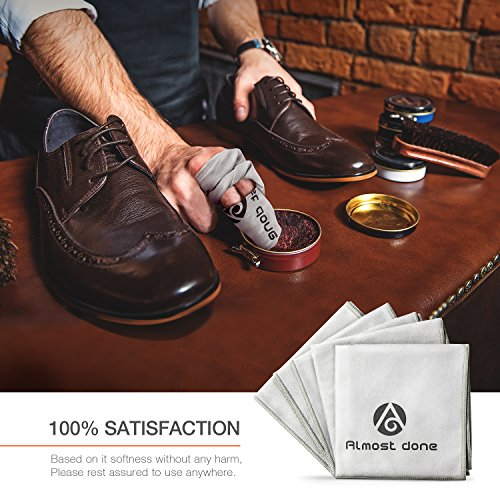 Pack of 5 Microfiber Shoe Cloth - Shoe Shine Buffing Cloth, Leather Polishing Cloth, Shoe Shining Cloth by Almost Done (Image #5)