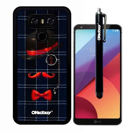 G6 Case, Blue Plaid Courtesy Eyes Gentleman Case, OkSoBuy(R) Ultra Thin Soft Silicone Case for LG G6 - Blue Plaid Courtesy Eyes Gentleman