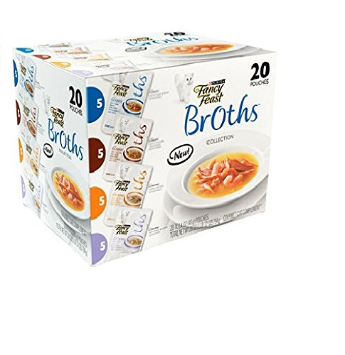 Fancy Feast Broths Collection, Variety Pack (20 ct.) Cat Food