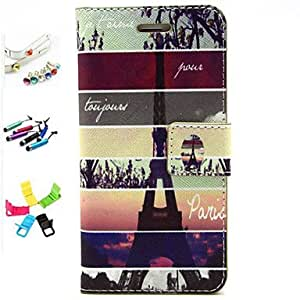 QHY Pylon Pattern PU Leather with Stylus ,Anti-Dust Plug and Stand Full Body Cases for iPhone 6