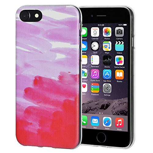 "Amzer ""Abstrakt Pink"" Soft Gel Klar TPU Skin Case für Apple iPhone 6/6S"
