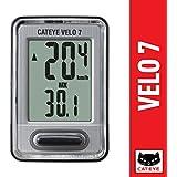 CAT EYE - Velo 7 Bike Computer - Speedometer and Odometer - Optional Headlight and Tail Light