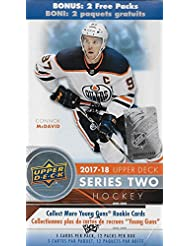 2017 2018 Upper Deck NHL Hockey Series Two Factory Sealed Unopened Blaster Box of 12 Packs Possible Young Guns Rookies and Jerseys