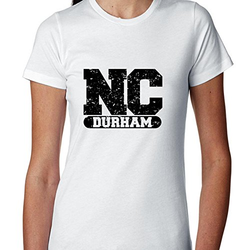 Hollywood Thread Durham, North Carolina NC Classic City State Sign Women's Cotton T-Shirt -