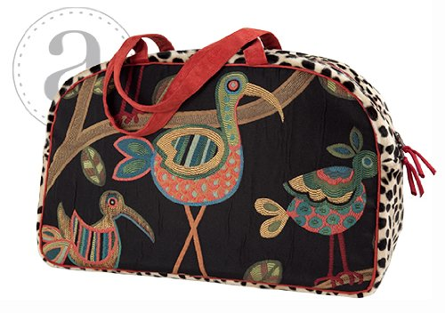 Atenti Overnighter Bag Birdy Black