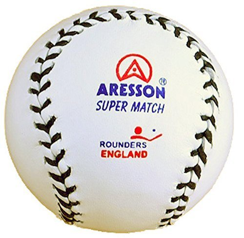 Aresson SPORTS BASEBALL JEU SUPER MATCH Rounders Angleterre CUIR Boule Blanc
