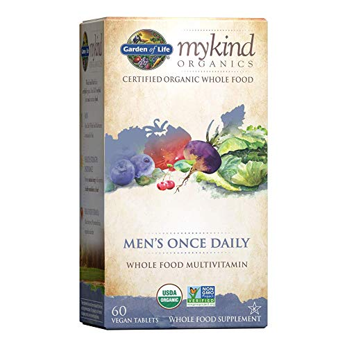 Garden of Life Multivitamin for Men – mykind Organic Men's Once Daily Whole Food Vitamin Supplement Tablets, Vegan, 60…