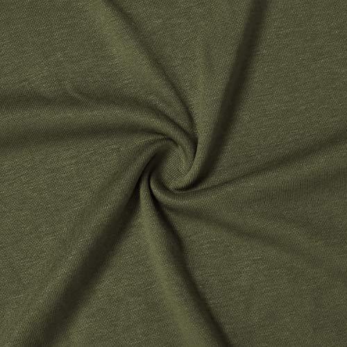 Bulotus Women's Plus Size Solid 3/4 Sleeve Zipper Top Casual Shirt,Green,XX-Large by Bulotus (Image #6)