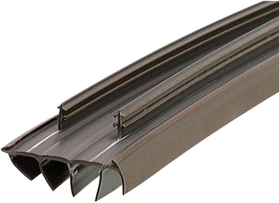Brown 31-3//4 inch 1 Pack KS Hardware Door Bottom with Vinyl Fins