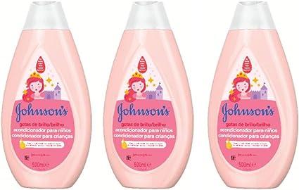 Johnsons Baby Gotas de Brillo - Acondicionador para niños, 3 x 500 ml: Amazon.es: Belleza