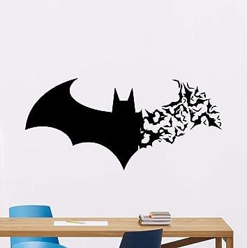 Batman Tatuajes de pared para niños Logo de bate de superhéroes ...