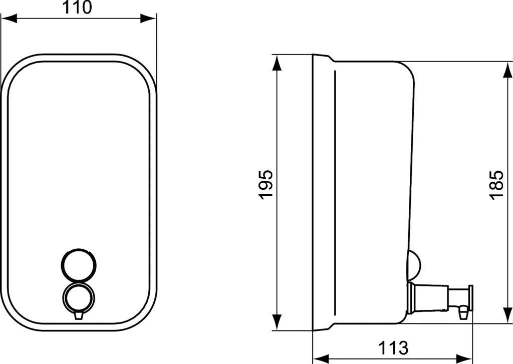 Ideal Standard A9103MY Dispenser da 800 ml Serie IOM Cromato