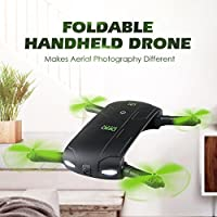 JJRC DHD D5 Mini Foldable Remote Control Drone G-sensor 4-Blade Quadcopter 3D Flips& Rolls with 30W WiFi FPV Camera (Black)